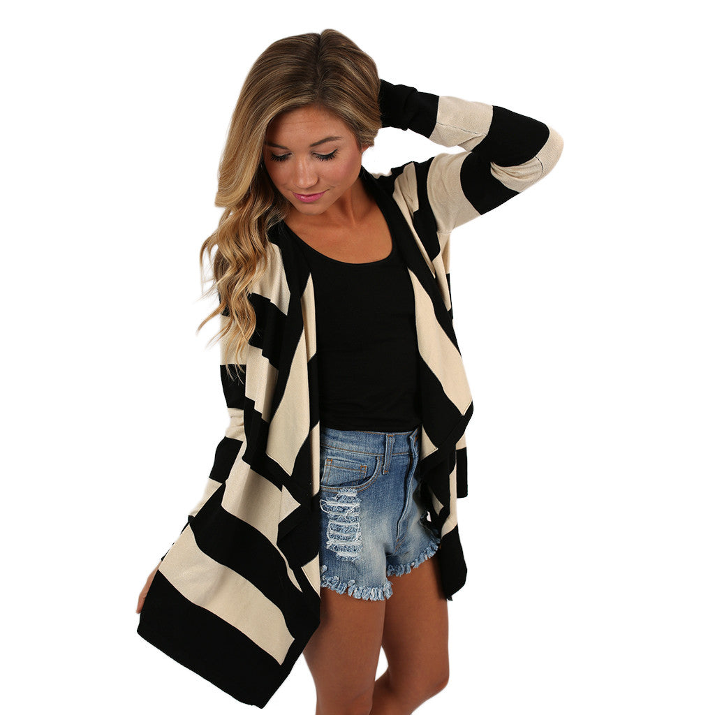 Happiest In Stripes Cardi