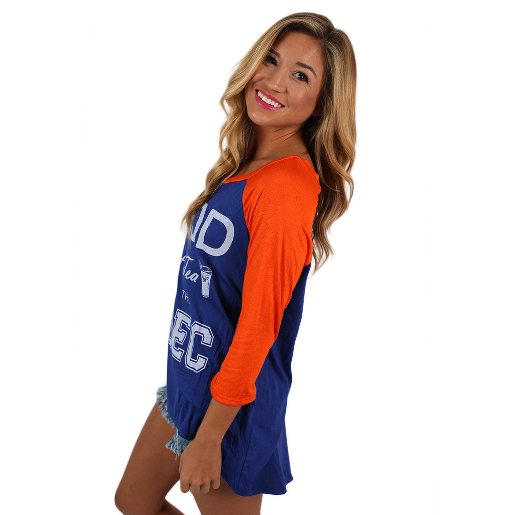 SEC Baseball Tee in Royal Blue