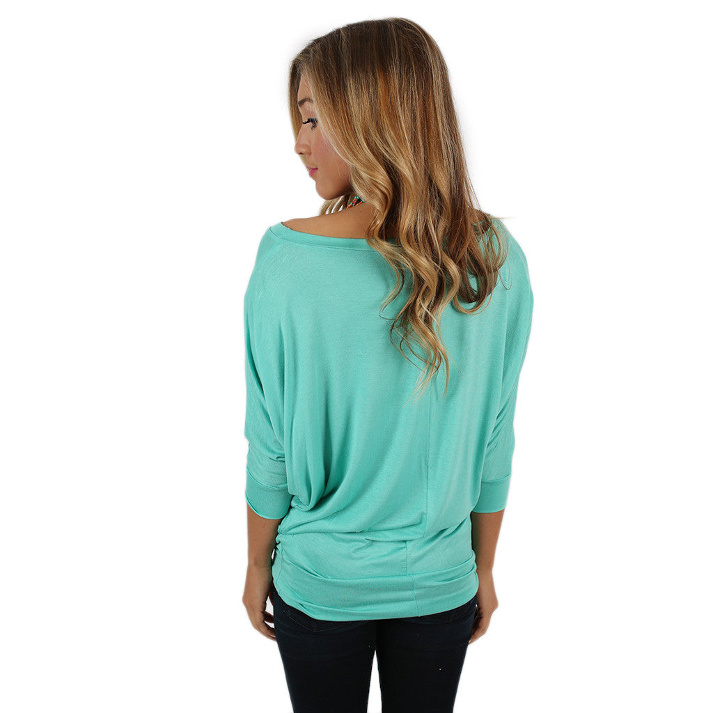 Living In Color Tee in Mint