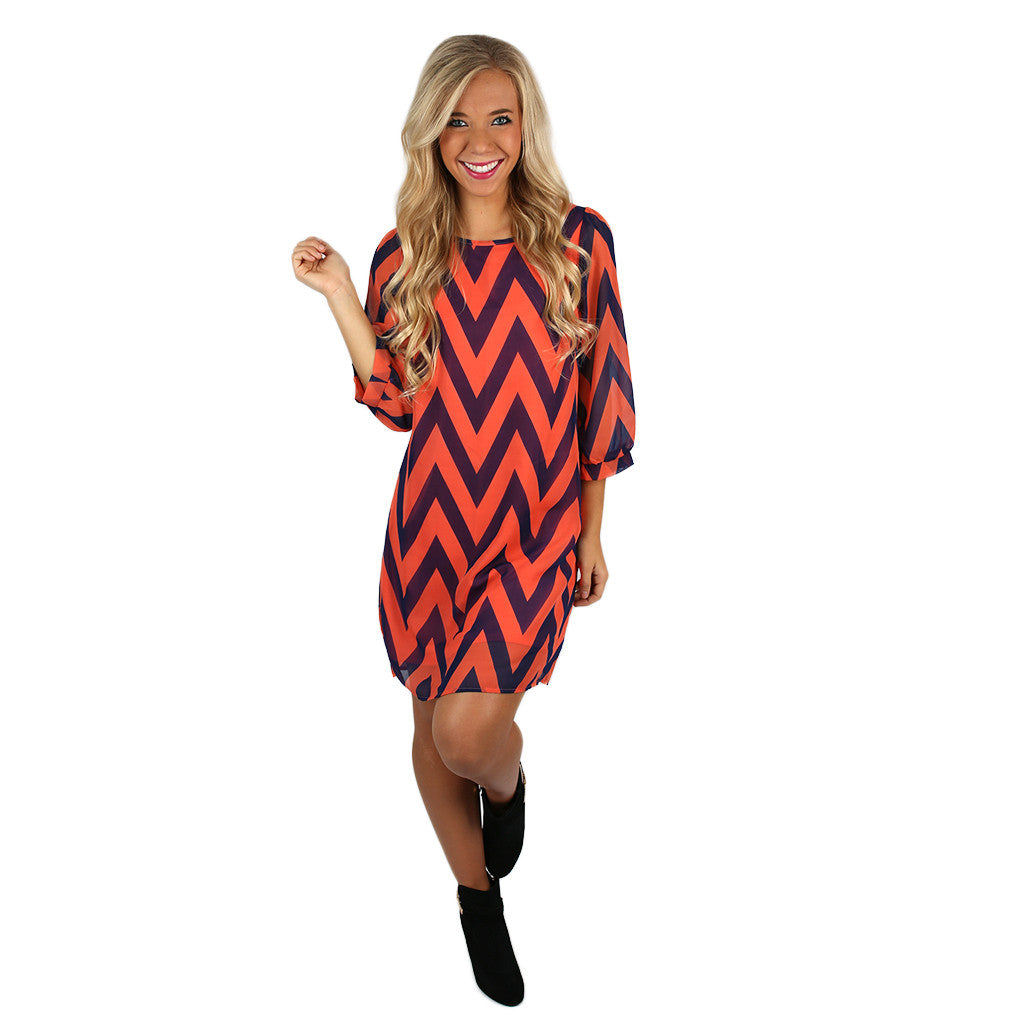 Stripe it to Me Shift Dress Coral