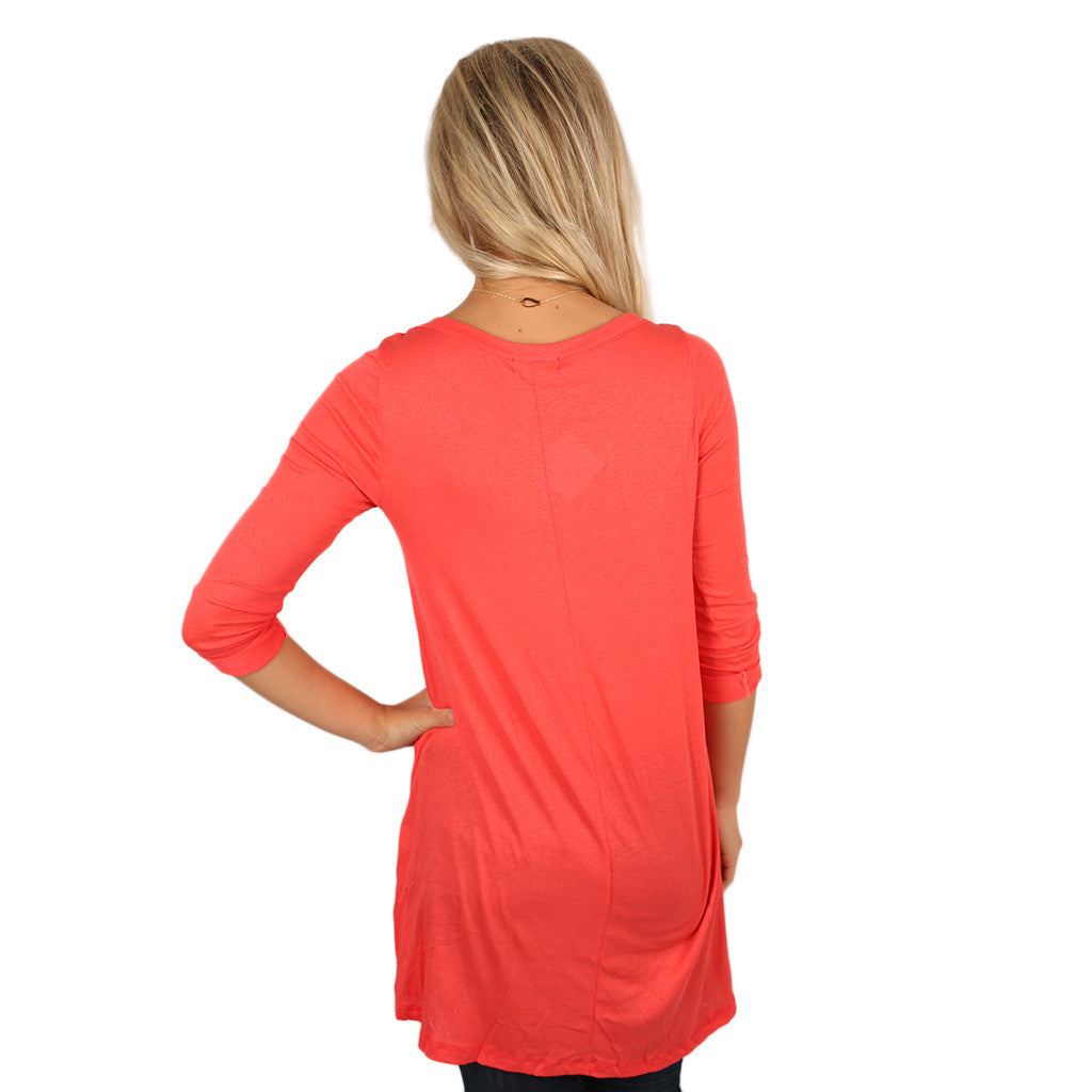 Yours Truly Tunic Coral