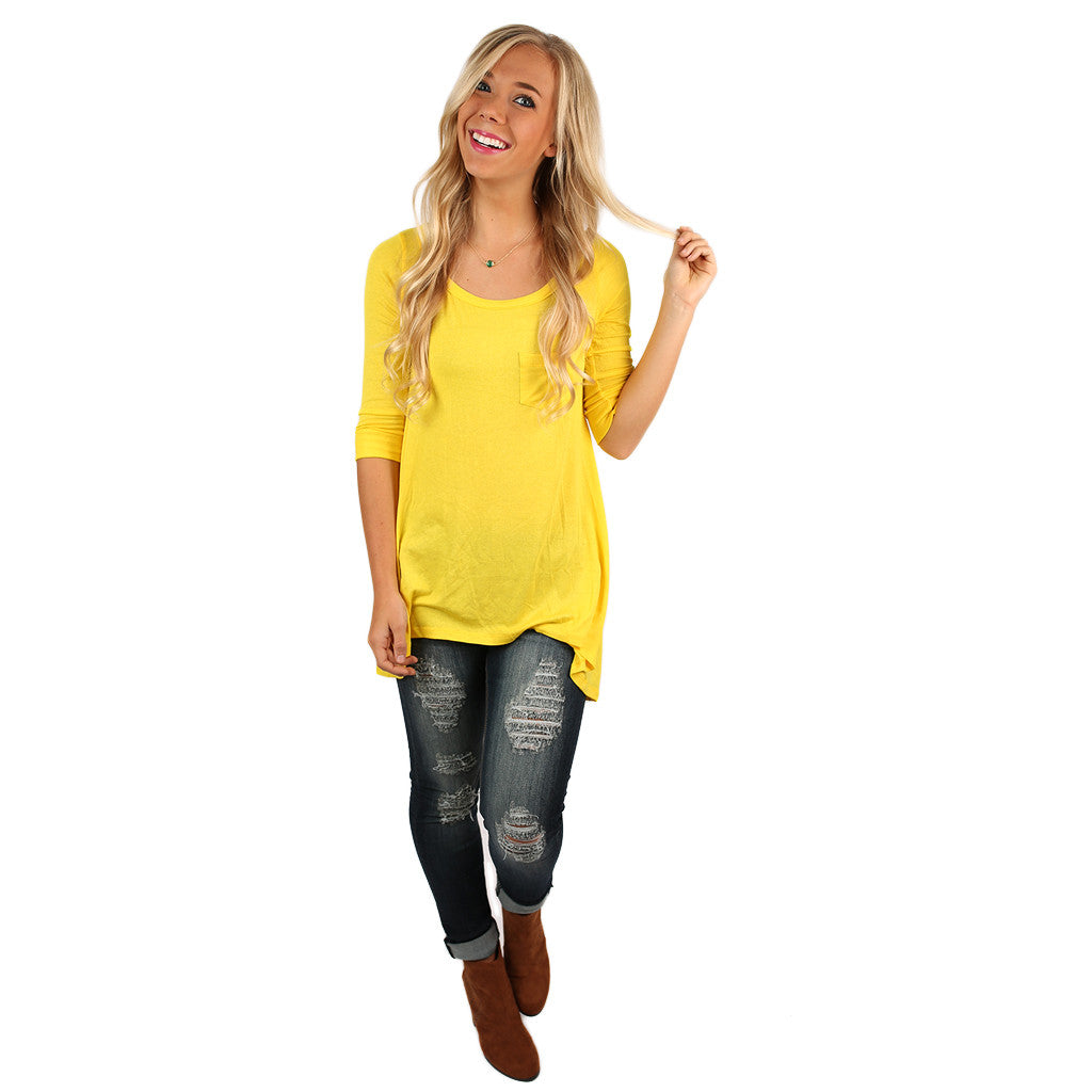 Yours Truly Tunic Yellow