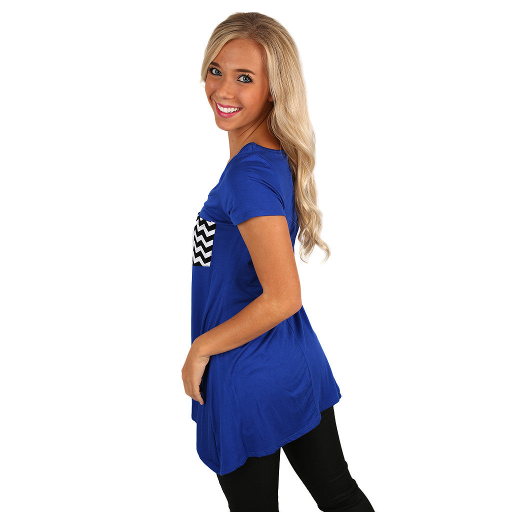 Southern Pocket Tee in Royal Blue
