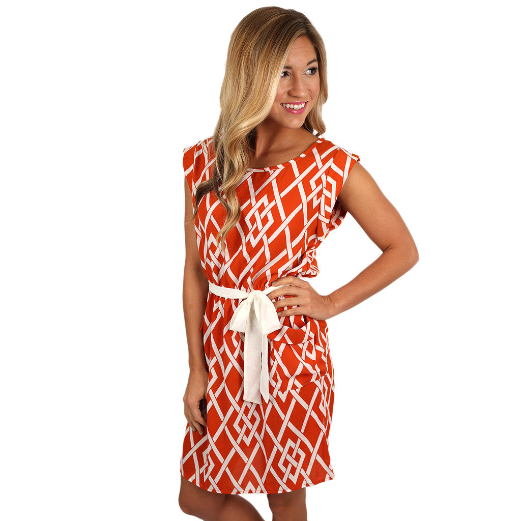 Take Me Out Tonight Dress Orange