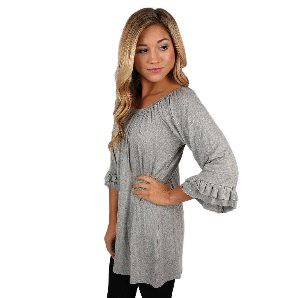 Cheer On Tunic in Heather Grey