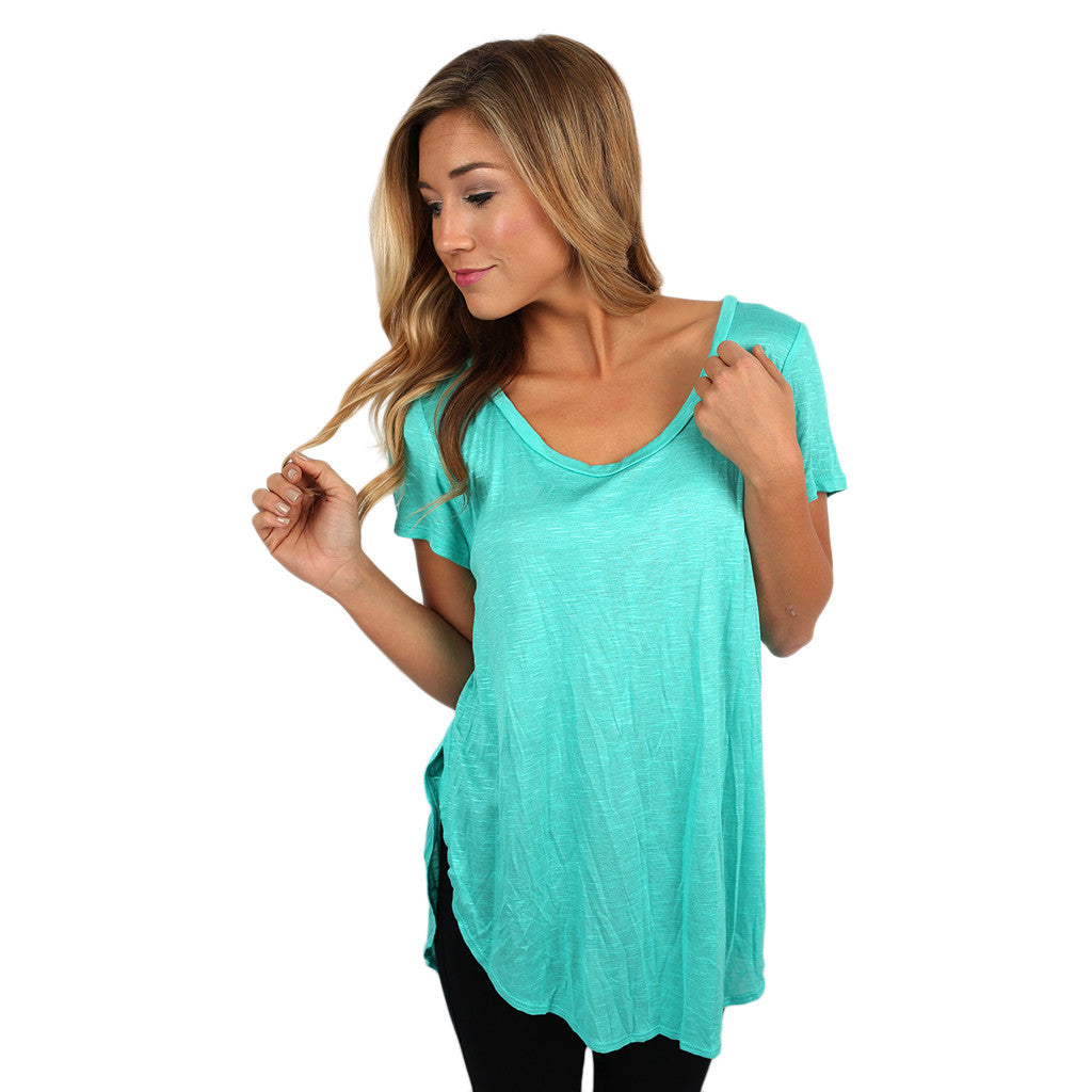 Dress To Impress Tee in Teal