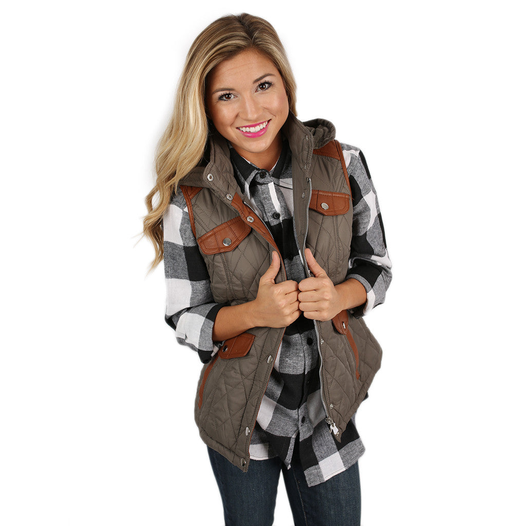 Fall is Calling Vest in Olive