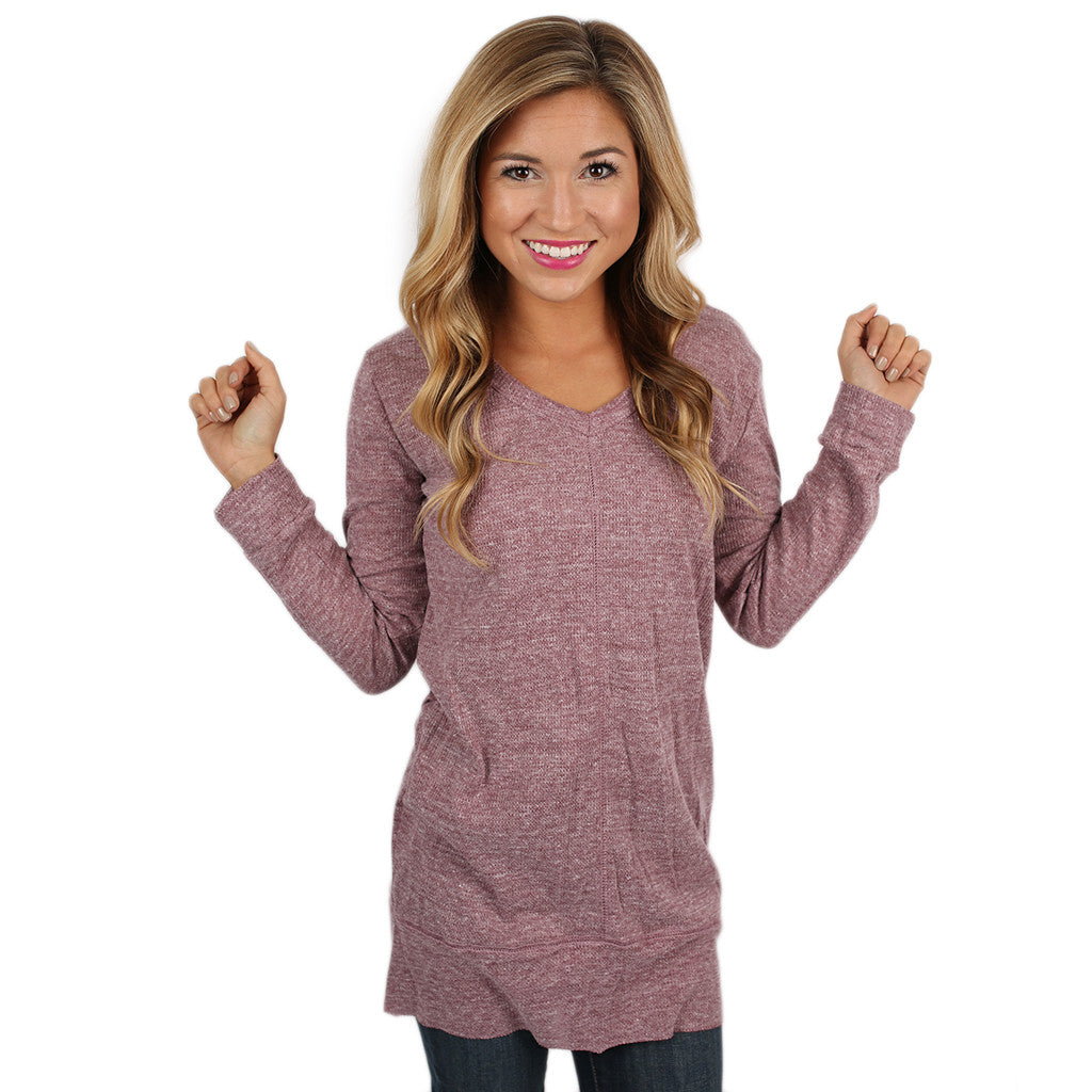 Countdown to Happy Hour Tunic Lavender
