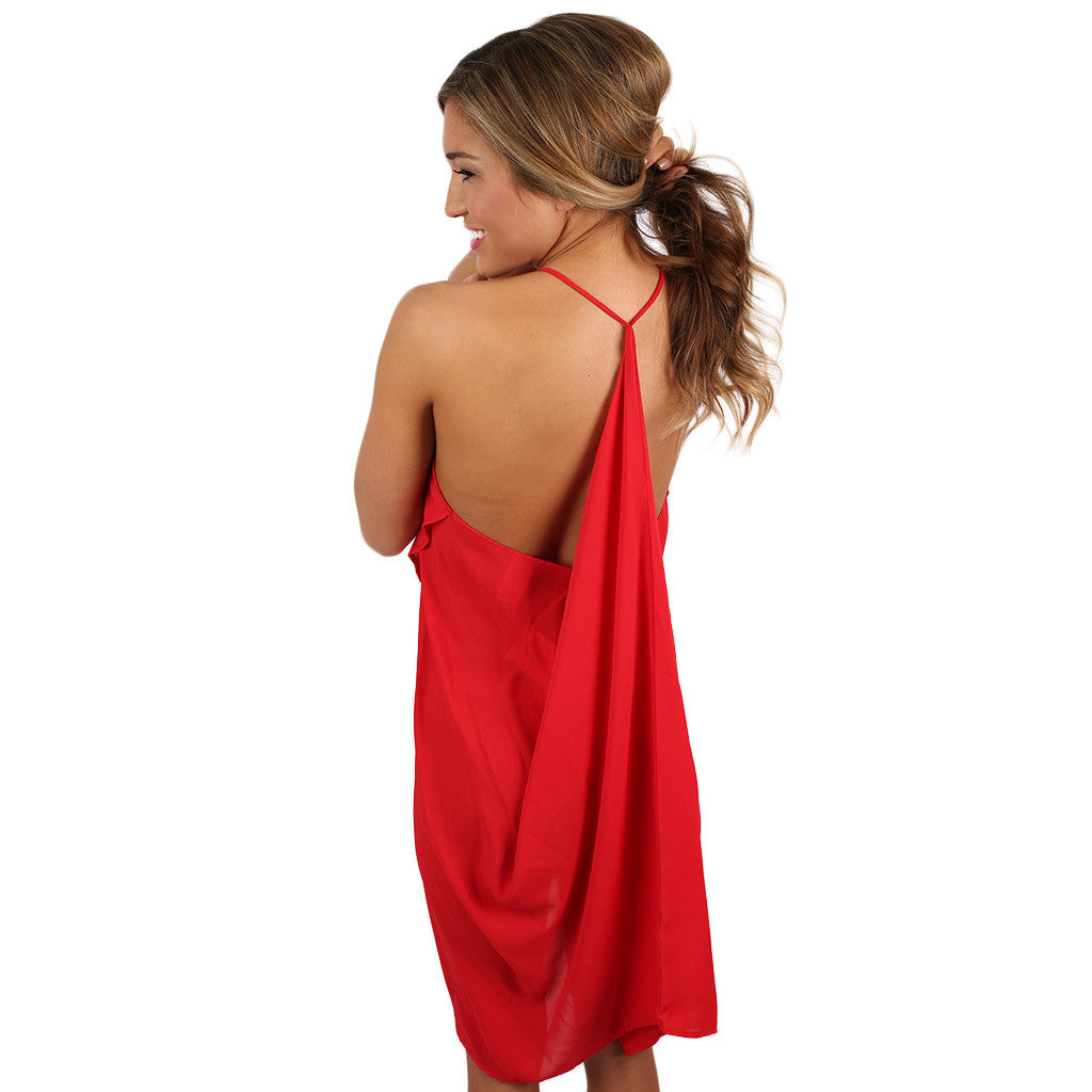 Hopeless Romantic Dress in Red