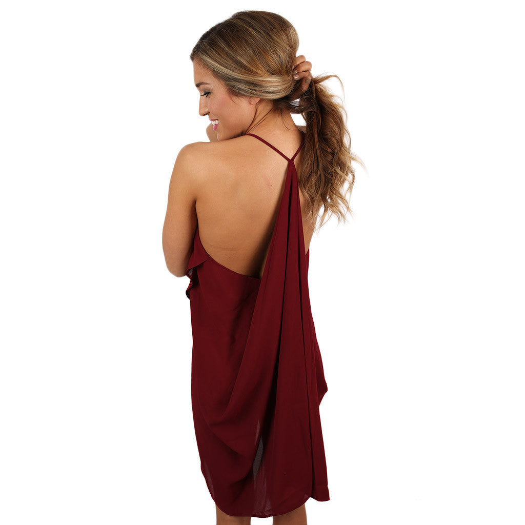 Hopeless Romantic Dress in Burgundy