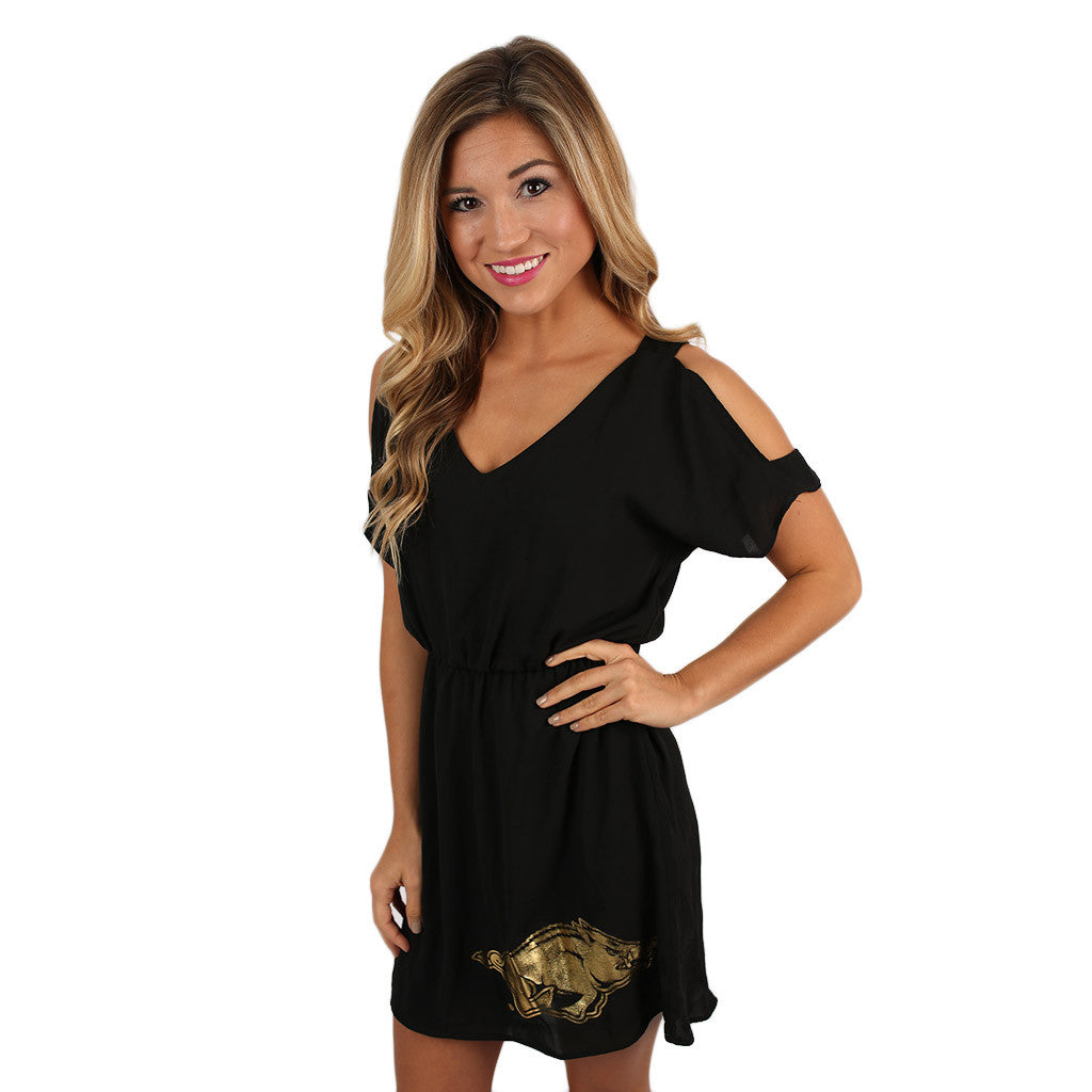 Gold Razorback Dress