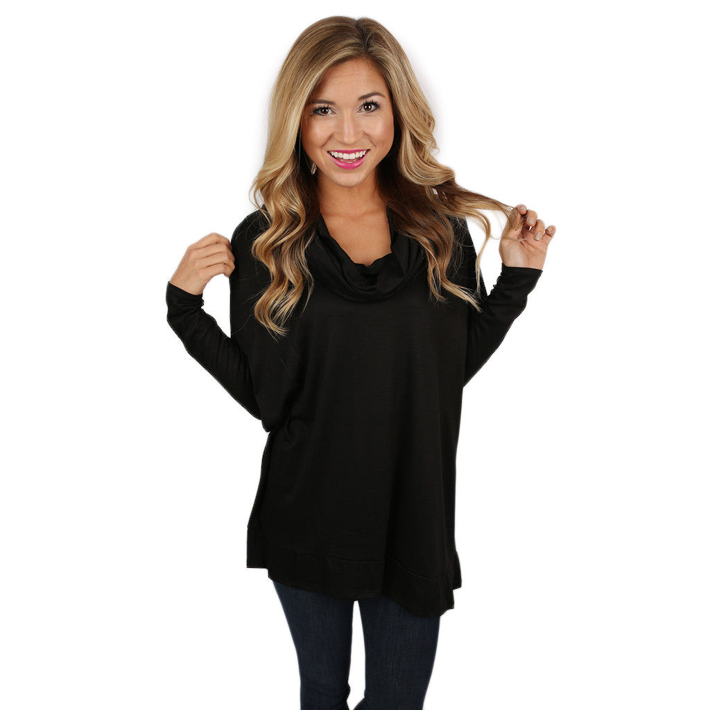 Dressed To Impress Tunic Top in Black
