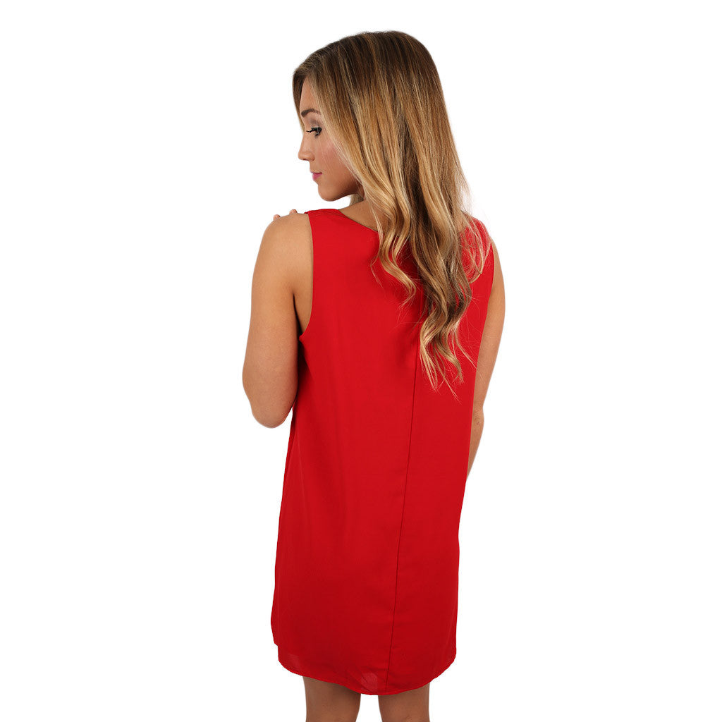 Here to Win Dress Red/Black