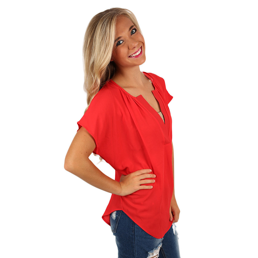 Truest Virtue Top Red