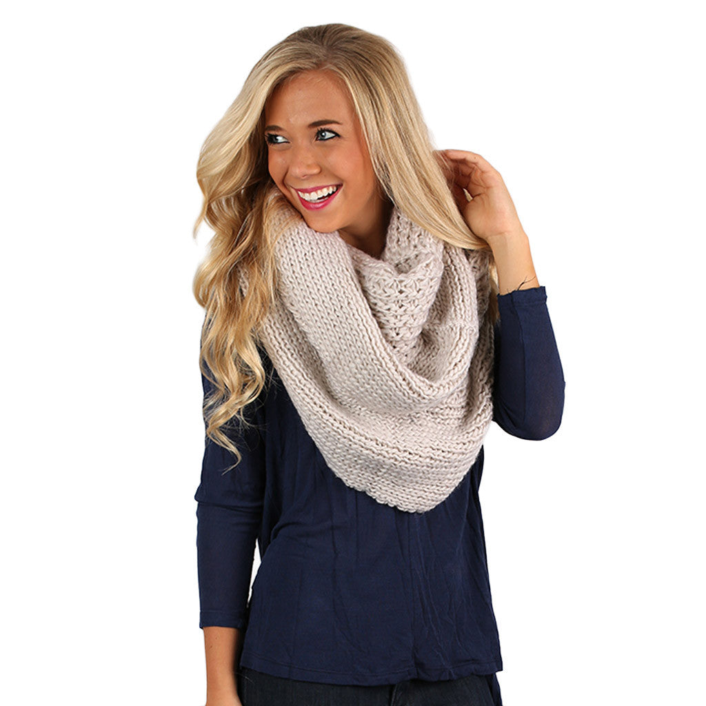 Keeping It Cozy Infinity Scarf Ivory