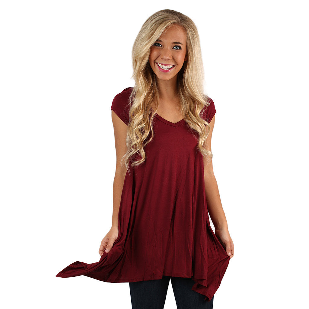 I'm Flawless Tunic in Burgundy