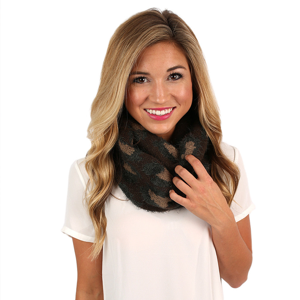Cheetah Chic Infinity Scarf Brown