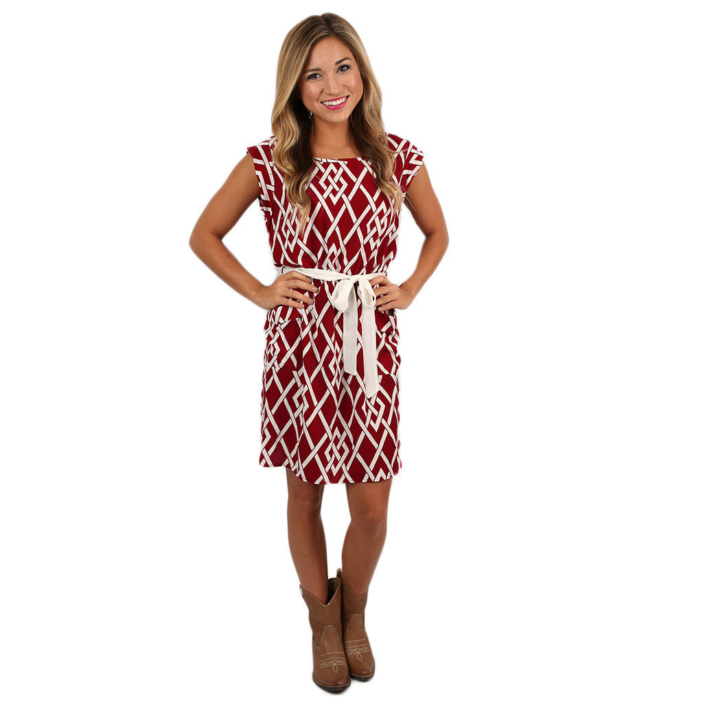Take Me Out Tonight Dress Burgundy
