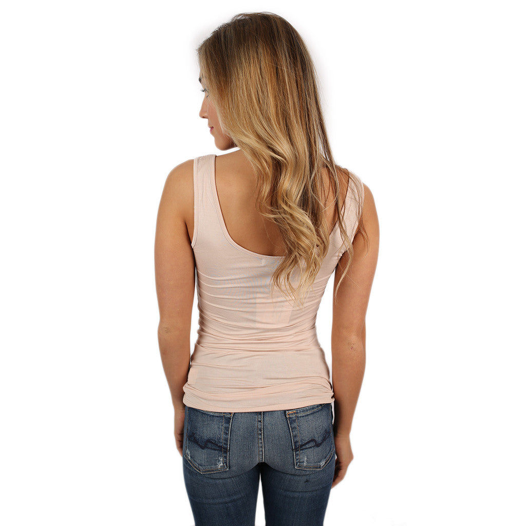 Impress Basic Tank in Beige