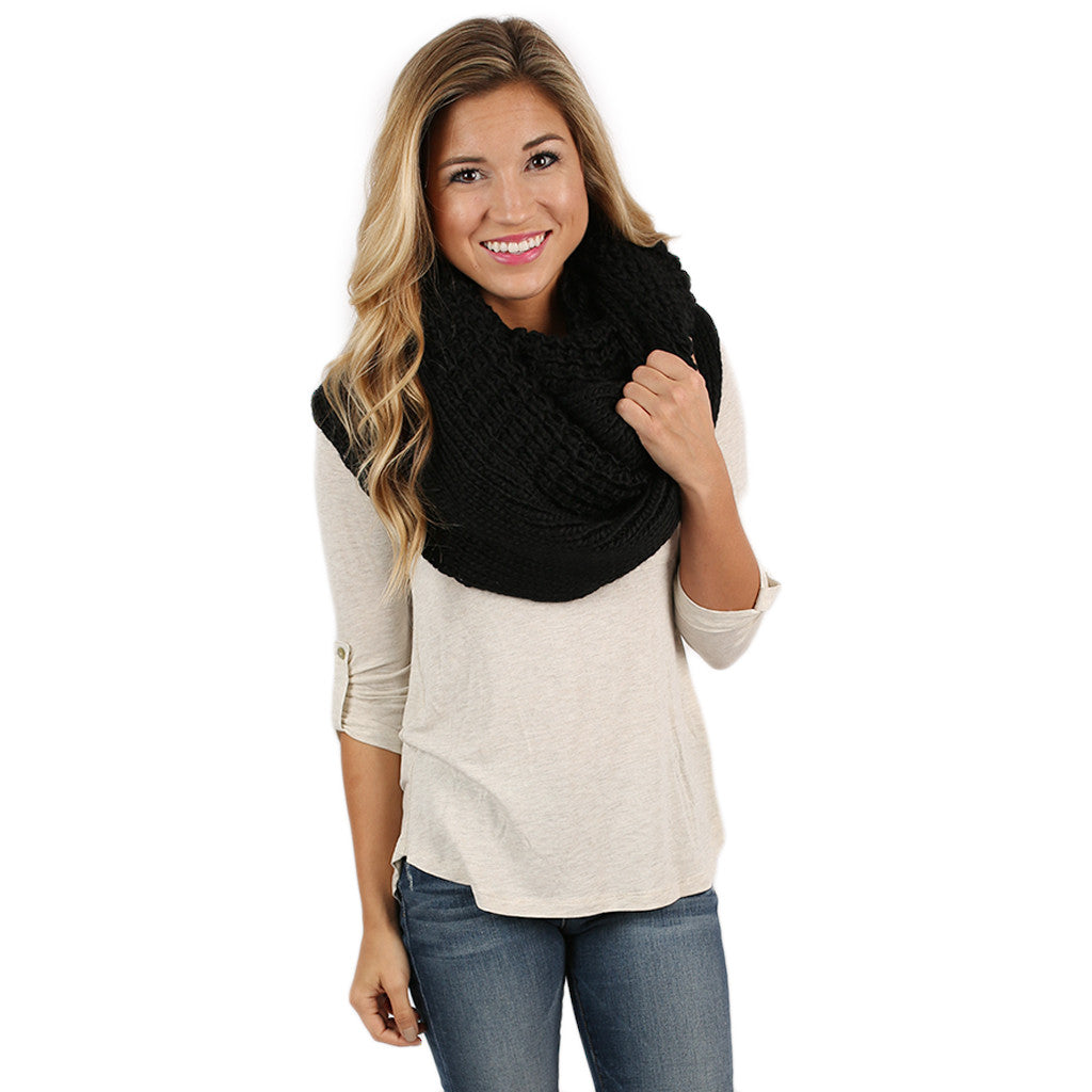 Keeping It Cozy Infinity Scarf Black