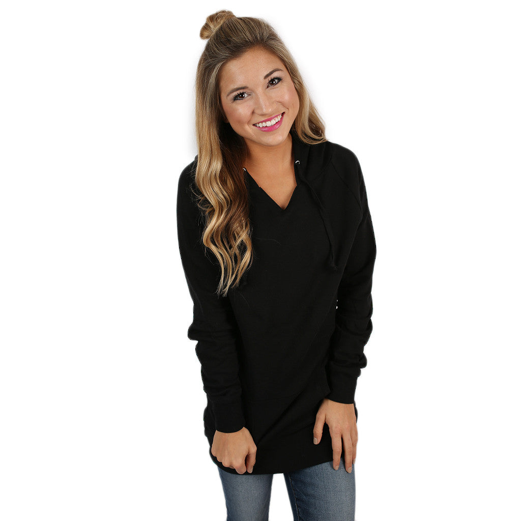 Simply The Comfiest Fleece Lined Hoodie in Black