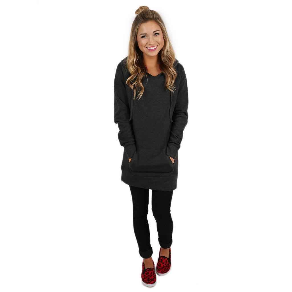 Simply The Comfiest Fleece Lined Hoodie in Charcoal