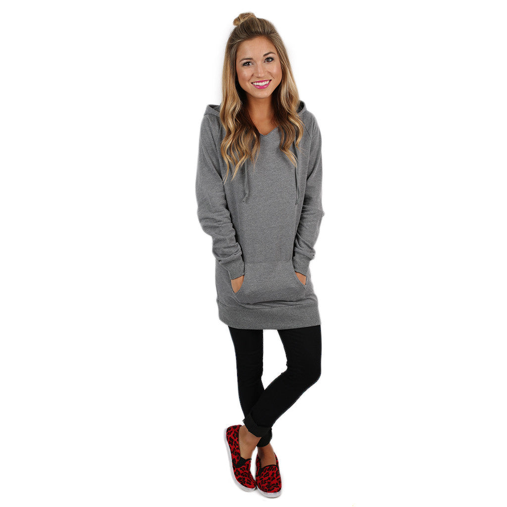 Simply The Comfiest Fleece Lined Hoodie in Grey