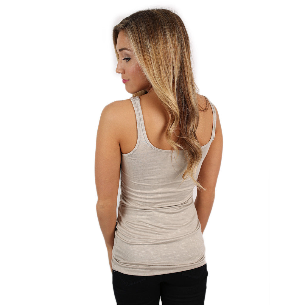 Not Your Basic Tank Taupe