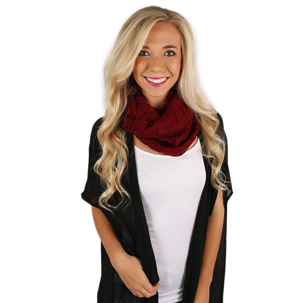 First Snowfall Infinity Scarf Burgundy