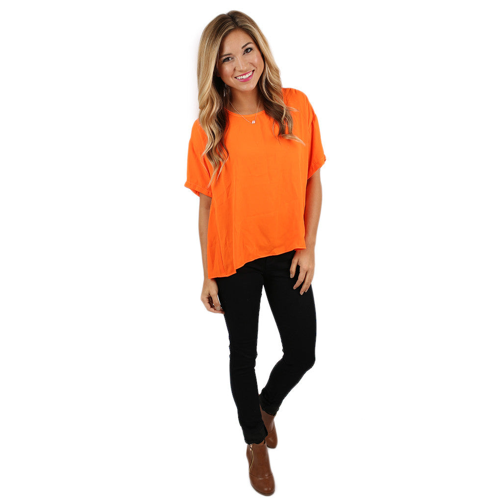 Let's Get Together Tee in Orange