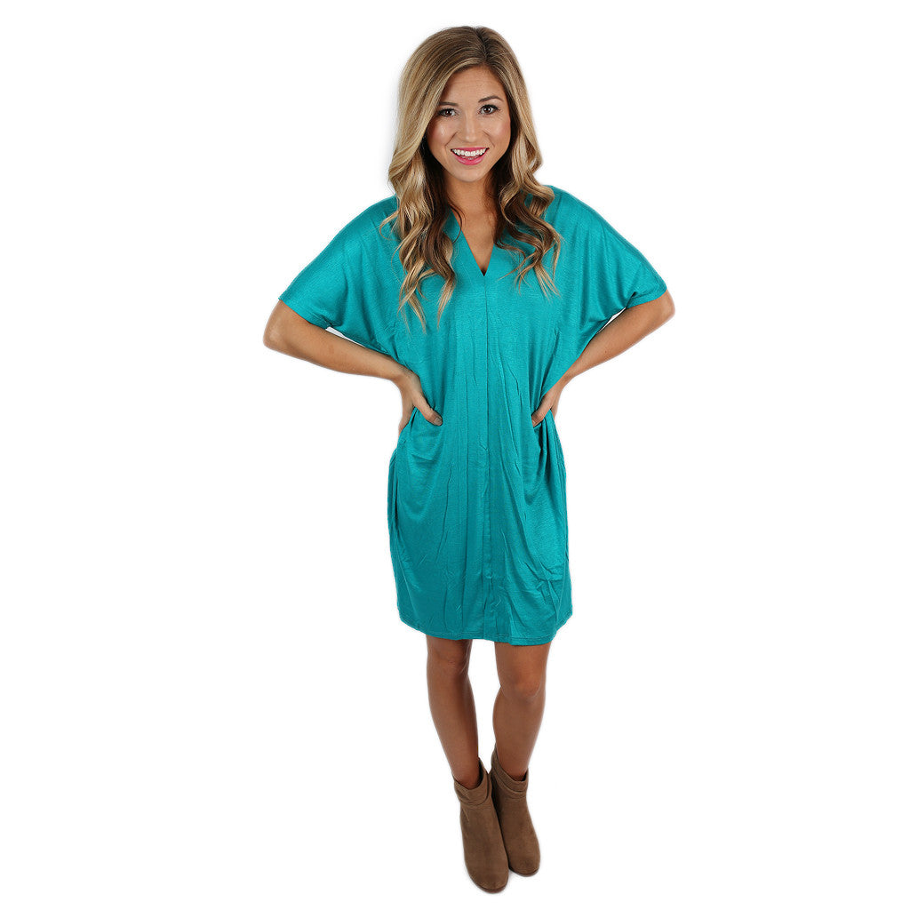 My Perfect T-Shirt Dress in Teal