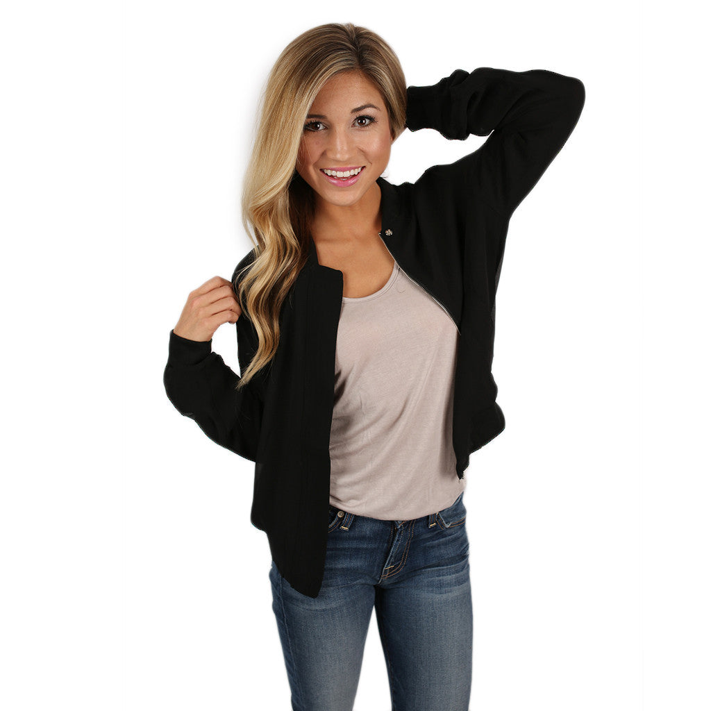 Livin' In The Fast Lane Jacket in Black