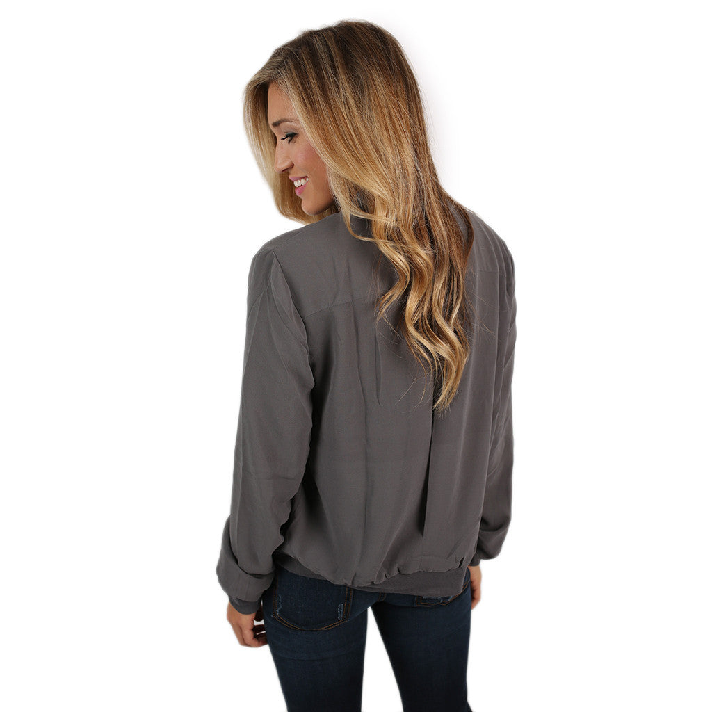 Livin' In The Fast Lane Jacket in Grey