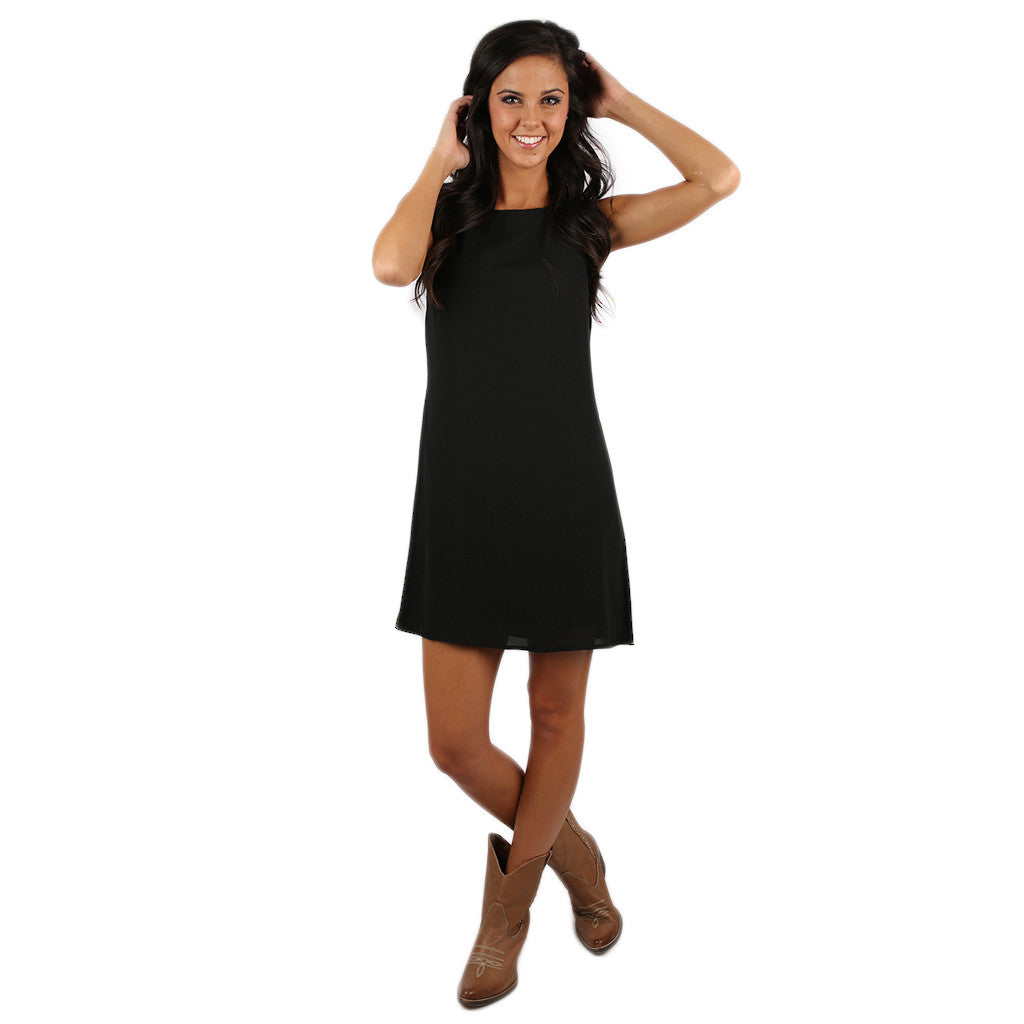 Bows & Kisses Sleeveless Dress Black