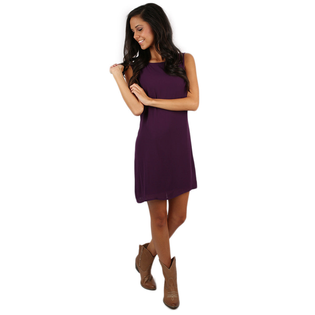 Bows & Kisses Sleeveless Dress Purple