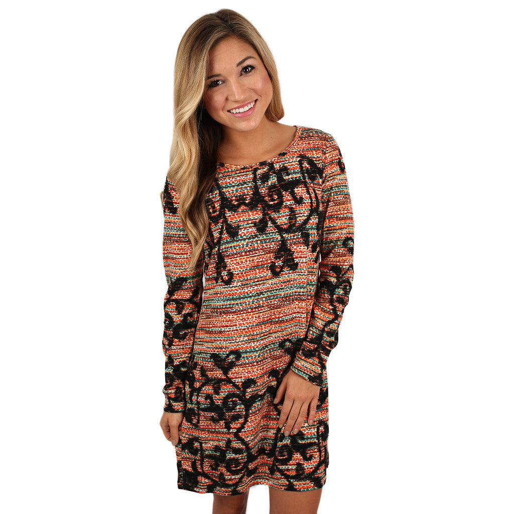Blissful Beauty Dress Orange