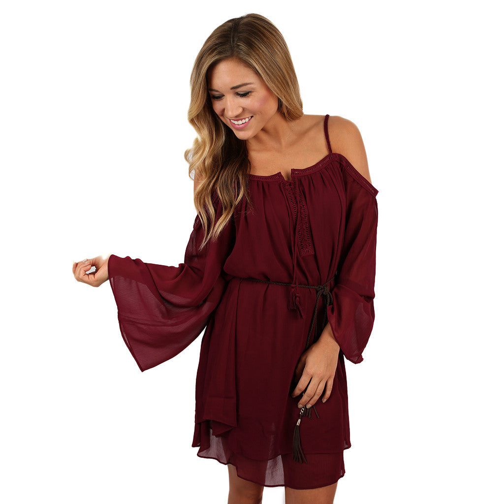Date Night in Dallas Dress Wine