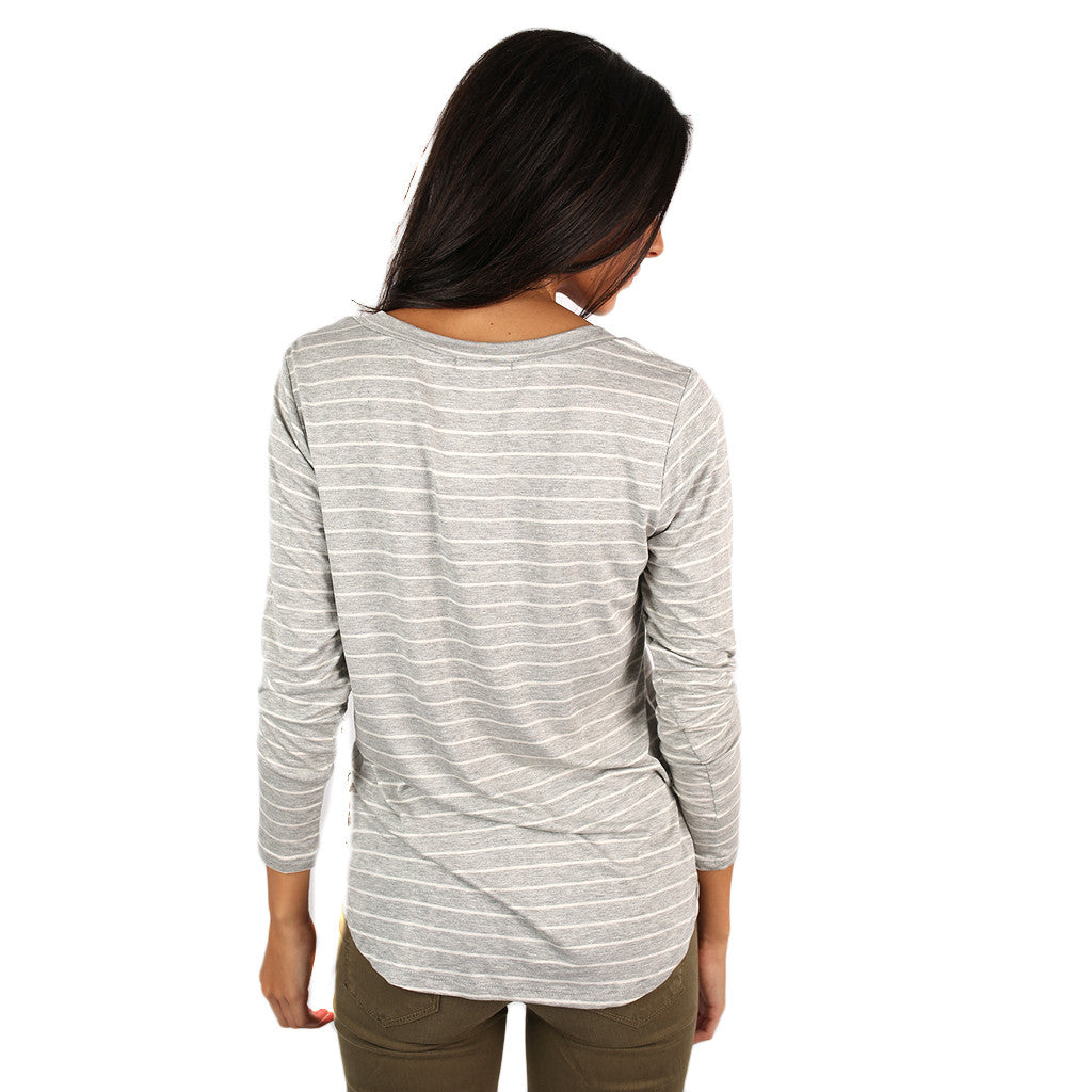 Tricks Of The Trade Stripe Tee in Grey