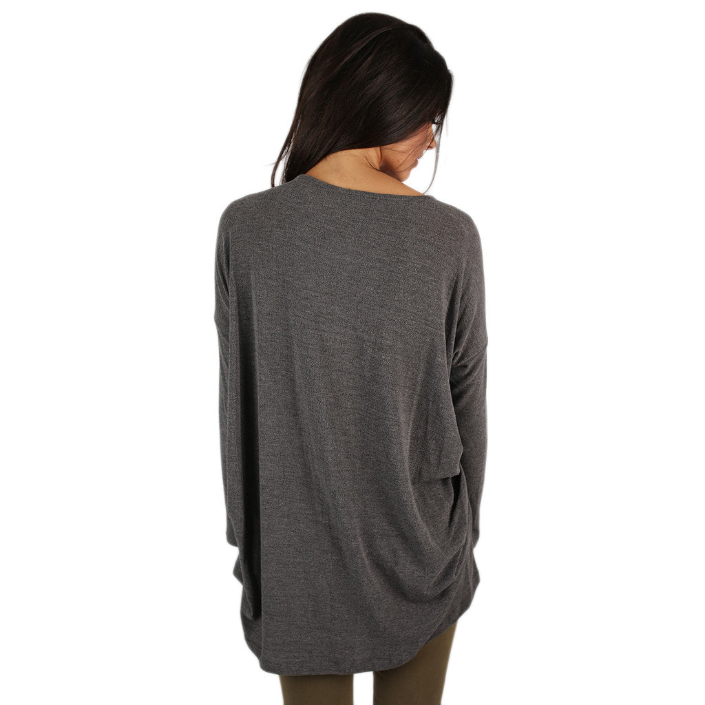 Take me to London Top Grey