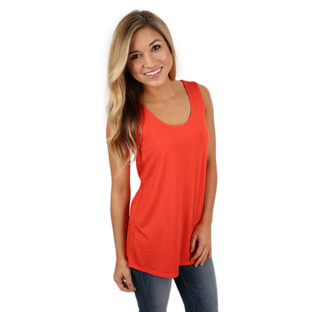At First Crush Scoop Tank in Orange