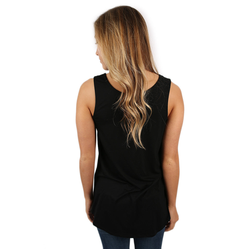 At First Crush Scoop Tank in Black