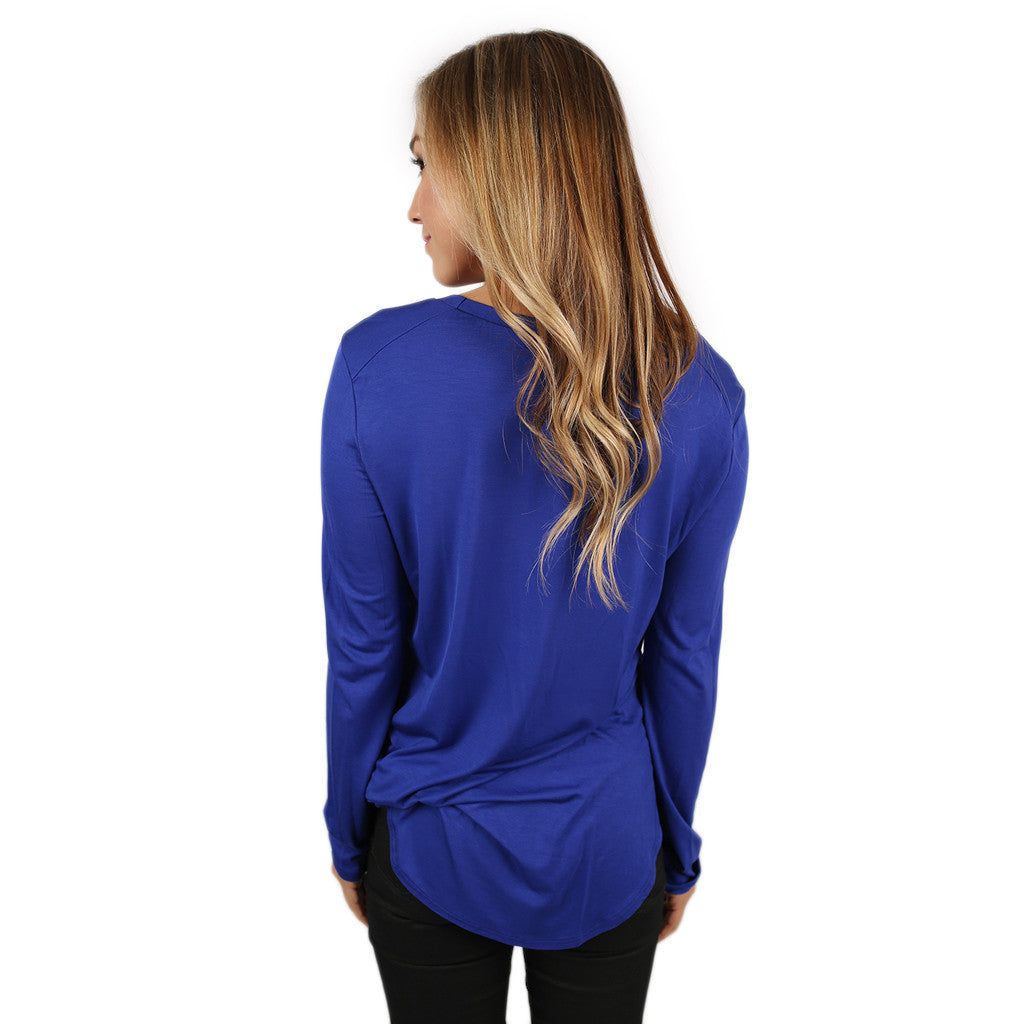 At First Crush Scoop Tee in Royal Blue