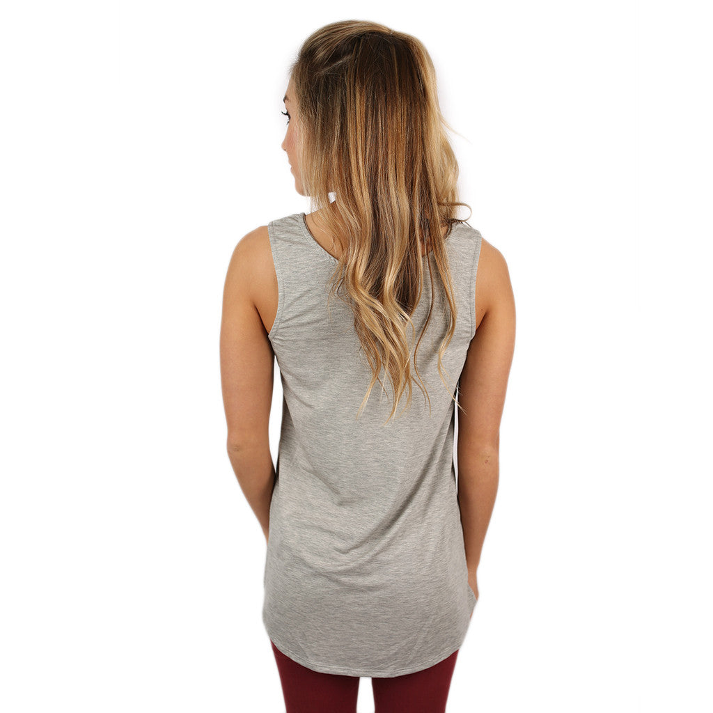 At First Crush Scoop Tank in Grey