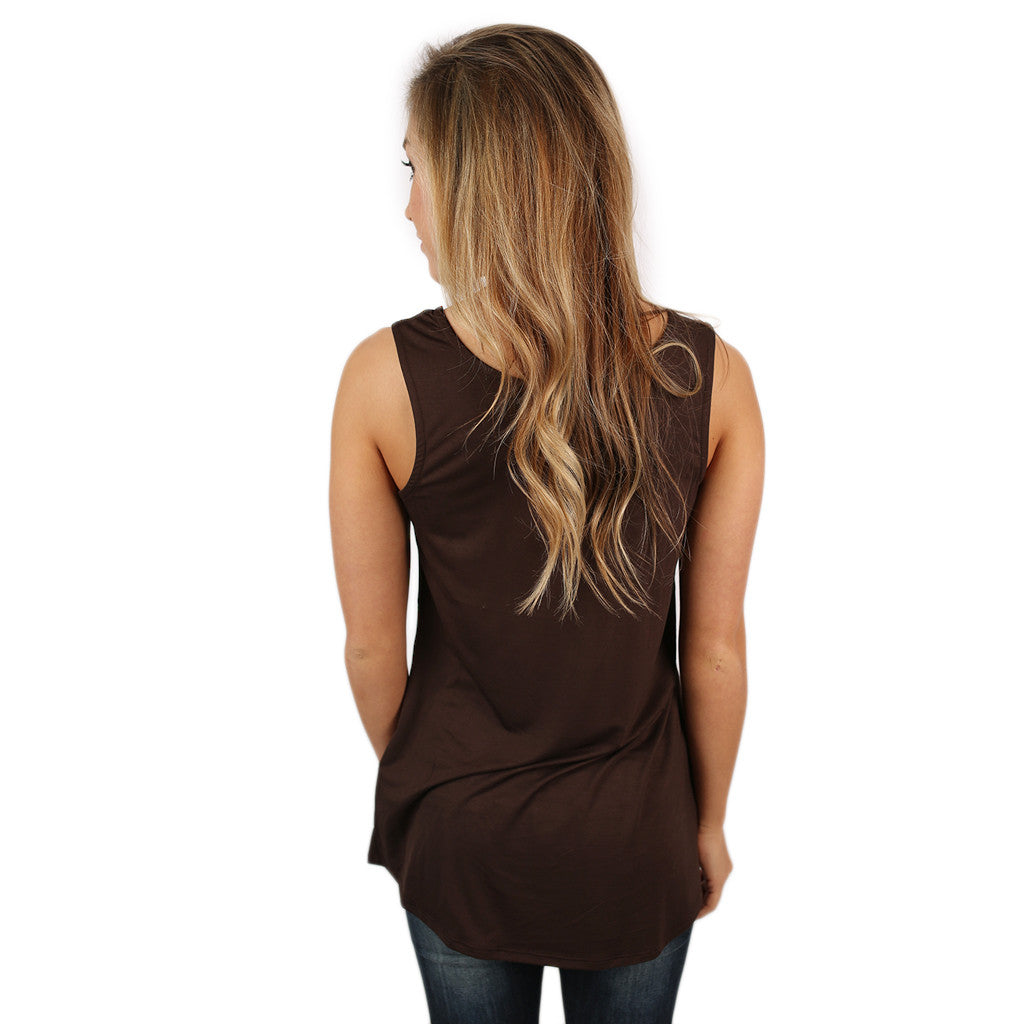 At First Crush Scoop Tank in Brown