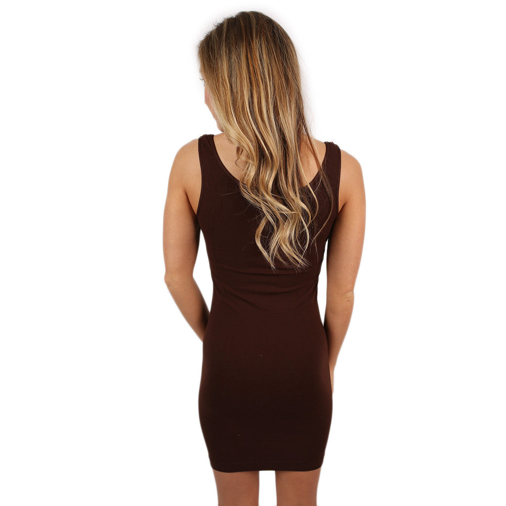 Seamless Jersey TunicTank Chocolate
