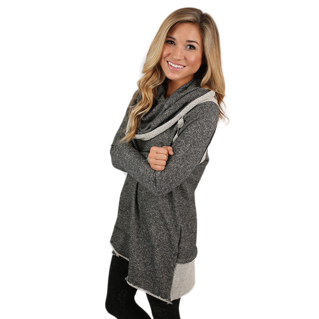 Cozy on the Slopes Sweater in Charcoal