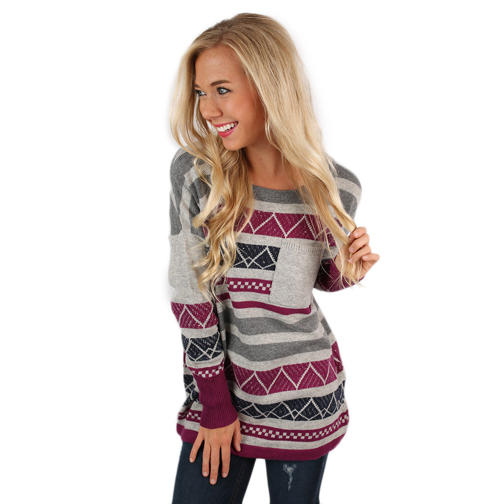 Luxurious Comfort Striped Sweater Navy