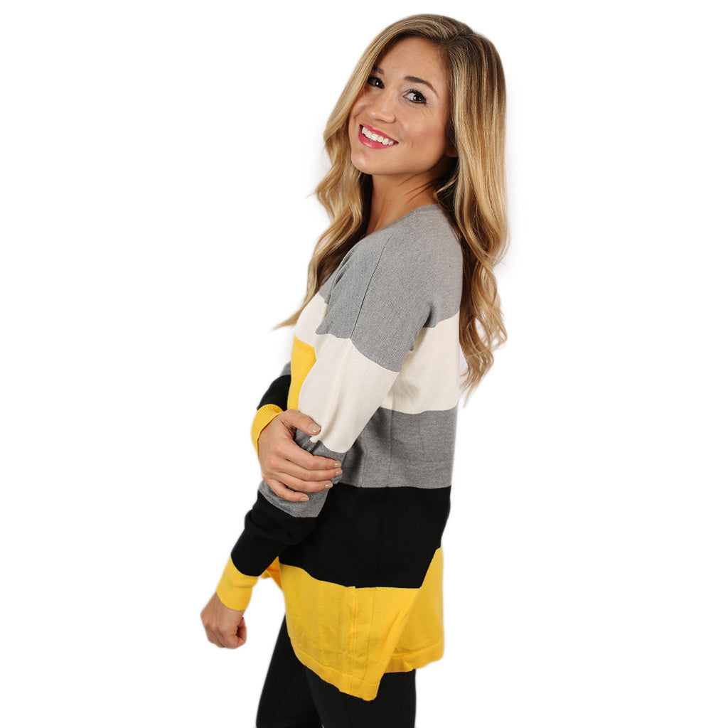 Cozy Luxury Thin Sweater Yellow/Black