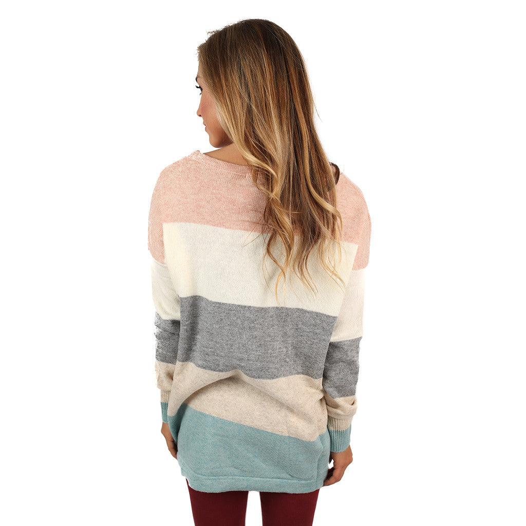 Cozy Luxury Seafoam/Grey Sweater