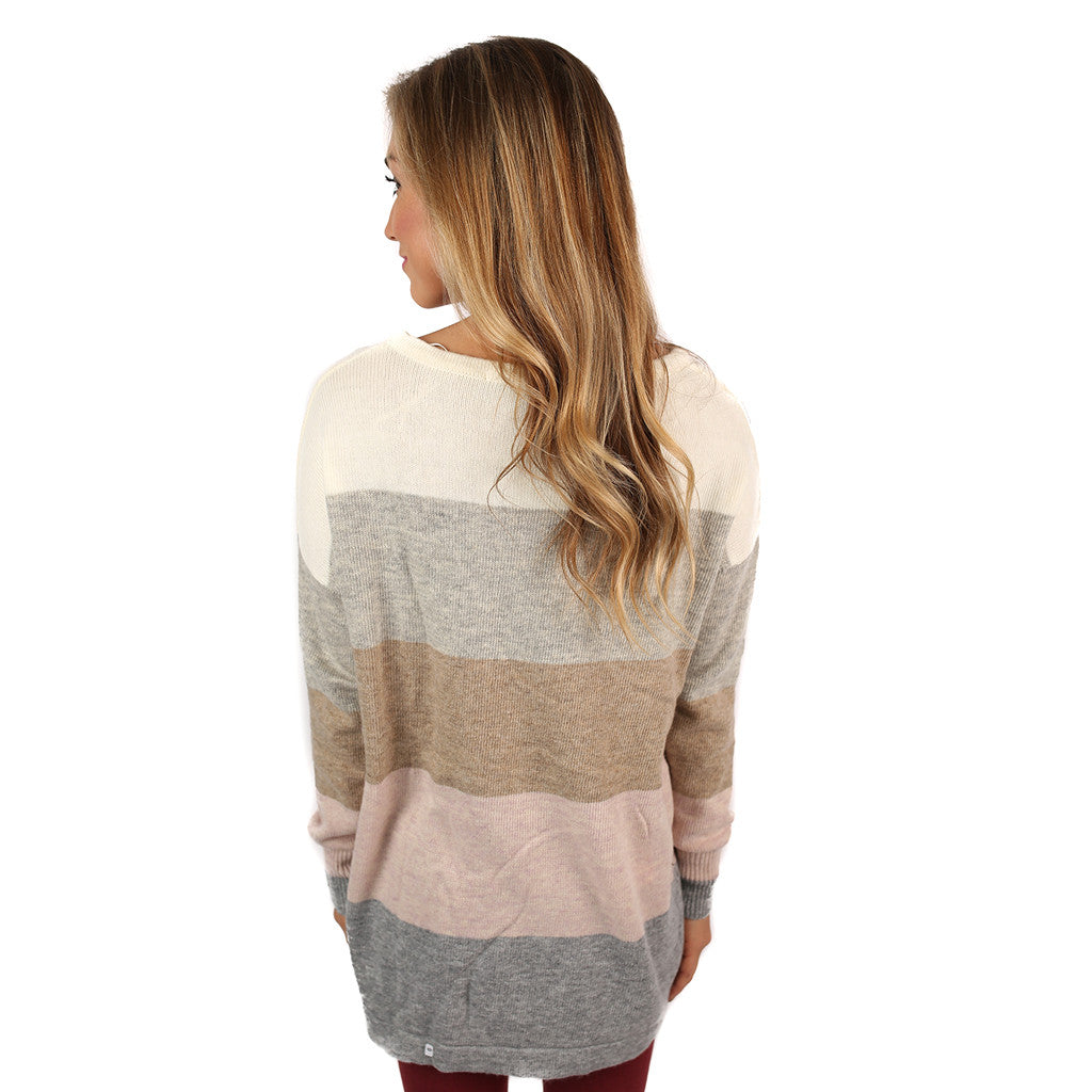 Cozy Luxury Camel/Grey Sweater